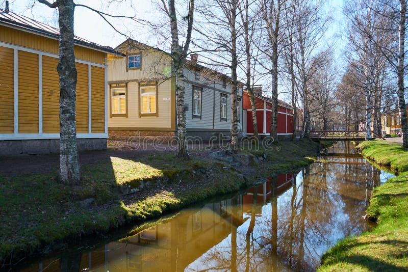 Stary miasteczko Rauma, Finlandia zdjęcia royalty free