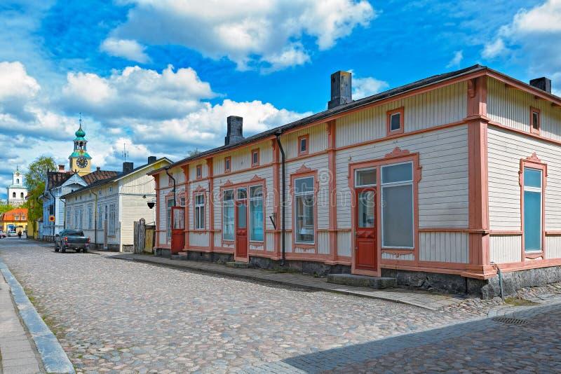 Stary miasteczko Rauma, Finlandia fotografia royalty free