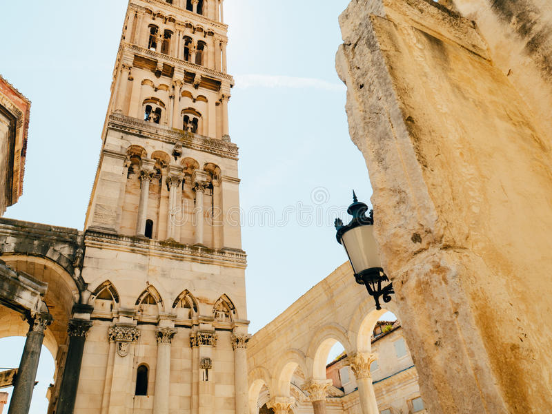 Stary miasteczko rozłam, Chorwacja Wśrodku miasta Antyczny architectur zdjęcia stock