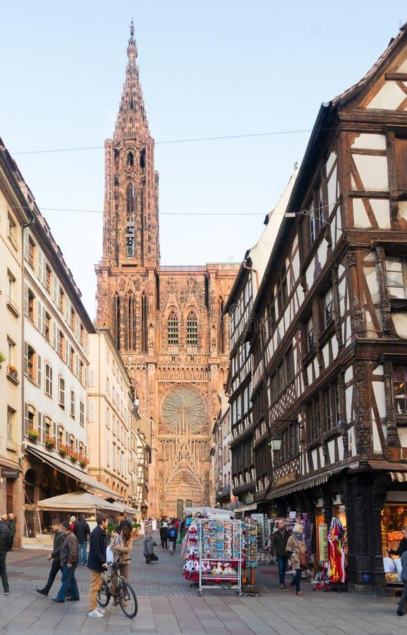 Stary miasteczko Strasburg, Francja obrazy royalty free