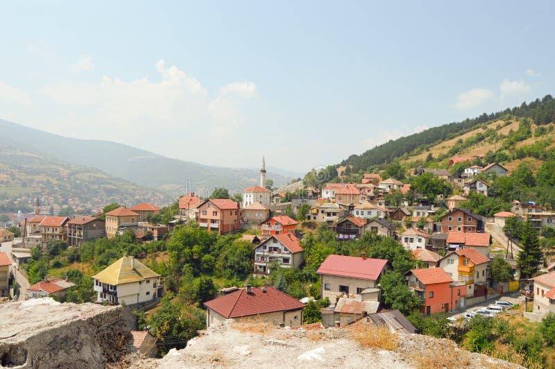 Stary miasteczko w Bośnia i Hercegovin fotografia stock