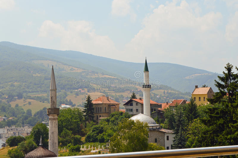 Stary miasteczko w Bośnia i Hercegovin fotografia royalty free
