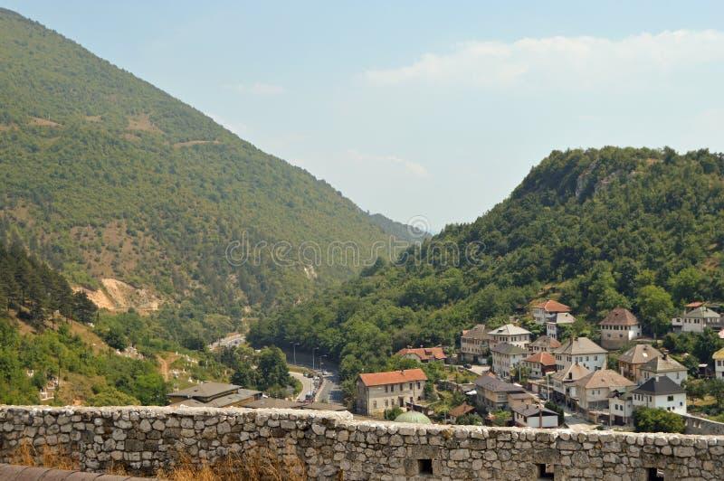 Stary miasteczko w Bośnia i Hercegovin zdjęcia stock