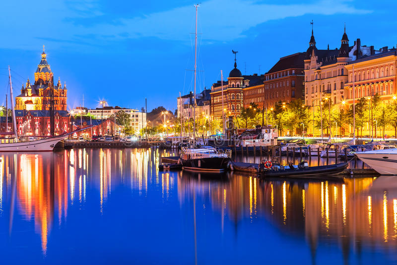Stary miasteczko w Helsinki, Finlandia fotografia royalty free