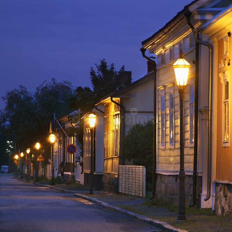 Stary miasteczko w Kokkola Finlandia fotografia stock