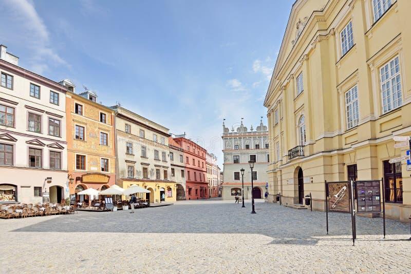 Stary miasteczko w Lublin, Polska fotografia royalty free