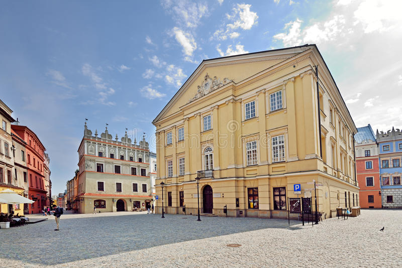 Stary miasteczko w Lublin, Polska fotografia stock