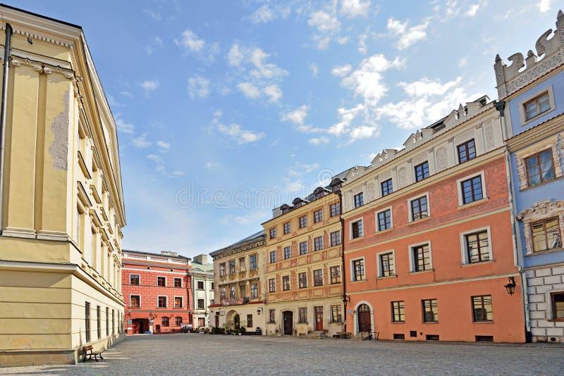 Stary miasteczko w Lublin, Polska zdjęcie royalty free