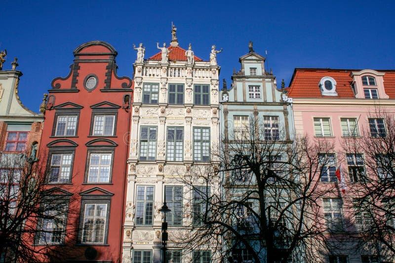 Stary miasteczko w Polska zdjęcia stock
