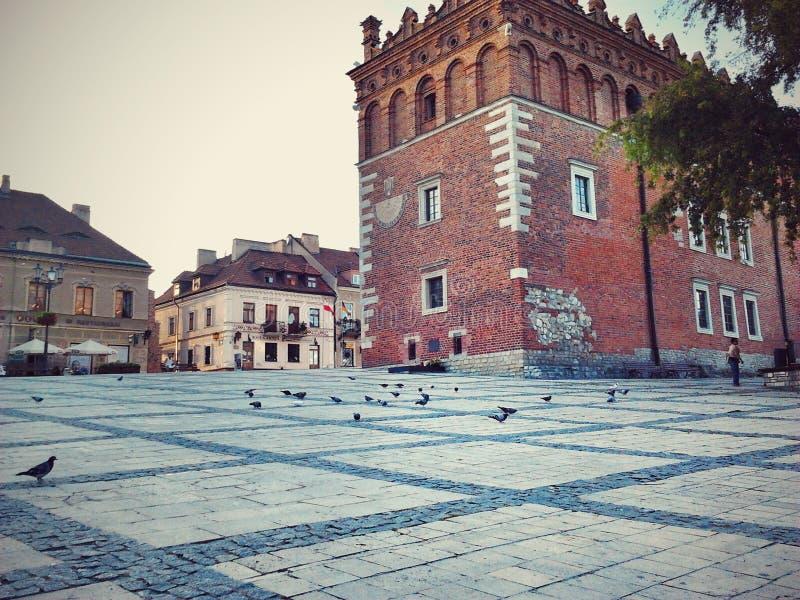 Stary miasteczko w słonecznym dniu obrazy stock