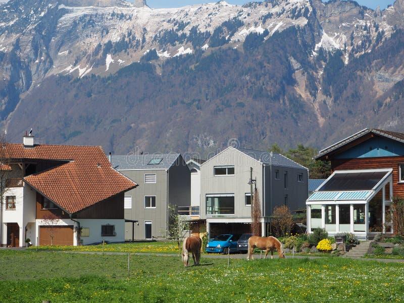 Stary miasteczko w Switzerland obraz stock