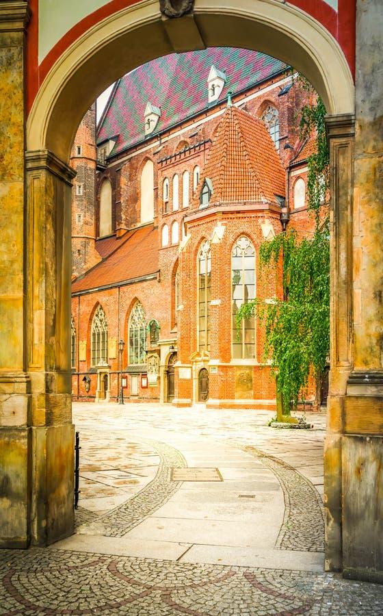 Stary miasteczko Wrocławski zdjęcie royalty free