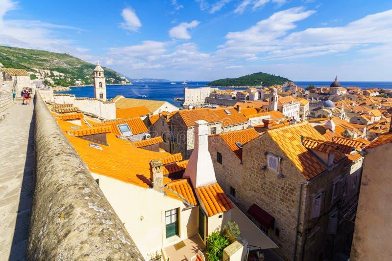 Stary miasto i ściany, Dubrovnik zdjęcia royalty free