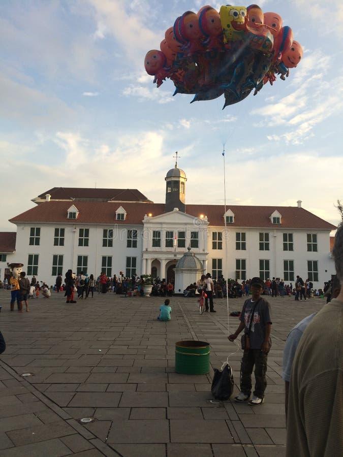 Stary miasto kwadrat Dżakarta zdjęcia royalty free