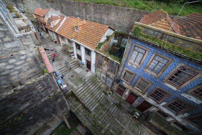 Stary miasto Porto w Portugalia od Above obrazy royalty free