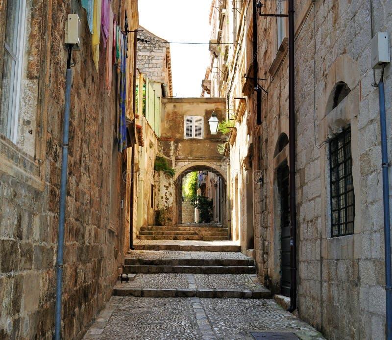 Stary miasto pusty Dubrovnik obraz stock