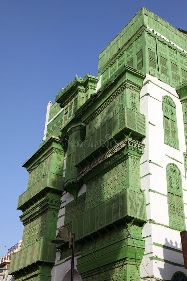 Stary miasto w Jeddah, Arabia Saudyjska znać jako ` Jeddah Dziejowy ` Stare i dziedzictwo drogi w Jeddah i budynki zgadzam się ba fotografia stock