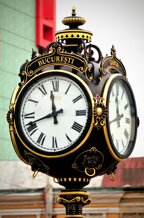 Stary miasto zegar obrazy stock