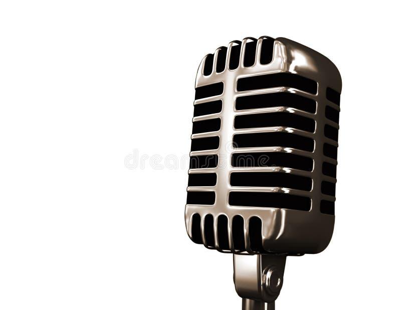 stary mikrofonu fotografia stock