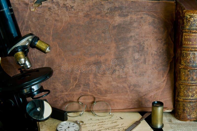stary mikroskop zdjęcie stock