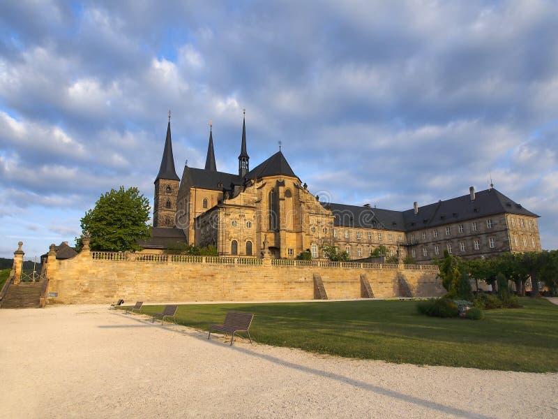 Stary monasteru St Michael w Bamberg obraz royalty free