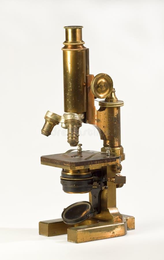 Stary mikroskop obrazy royalty free
