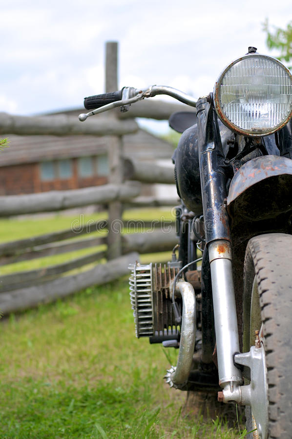 stary motocykl obrazy royalty free