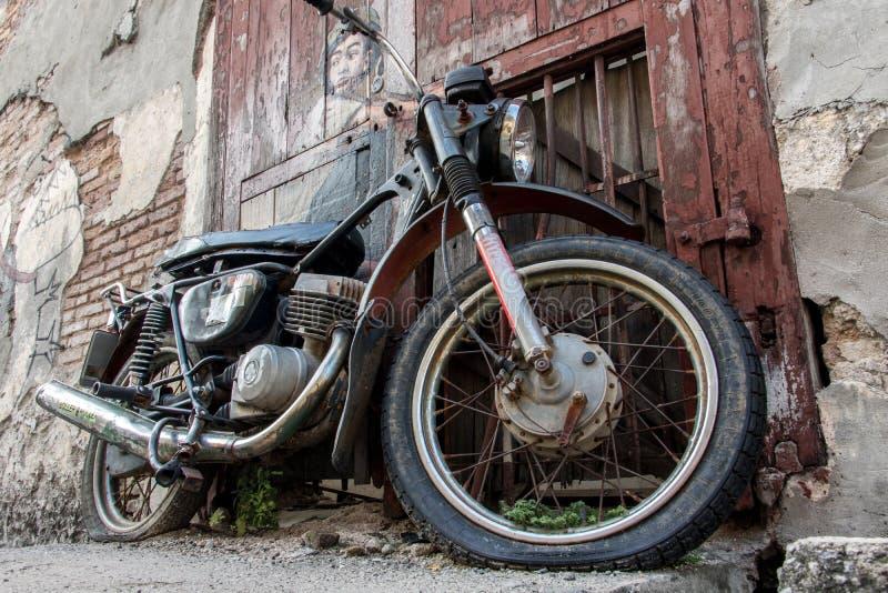 Stary motocykl w Georgetown, Penang zdjęcie royalty free