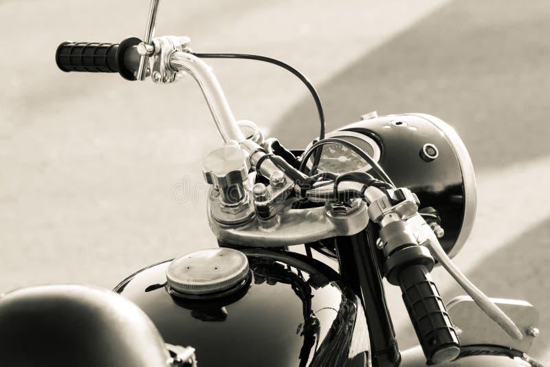 Stary motocyklu szczegół fotografia royalty free