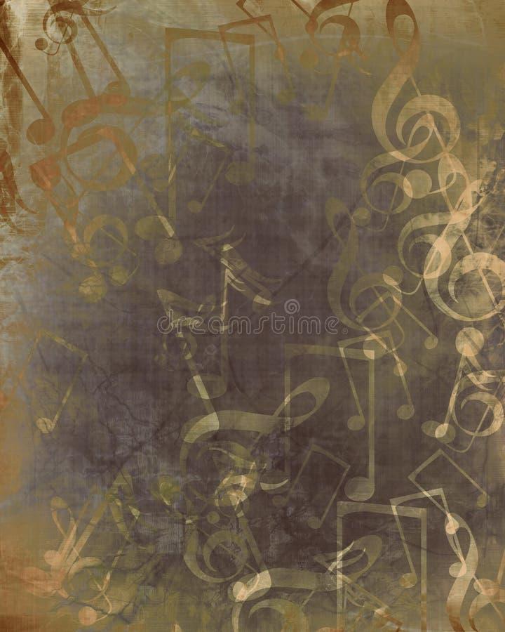 Stary muzyczny prześcieradło ilustracja wektor