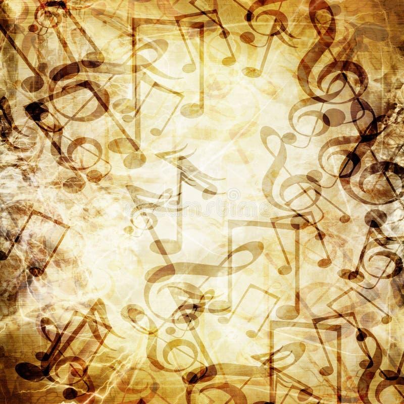 Stary muzyczny prześcieradło ilustracji