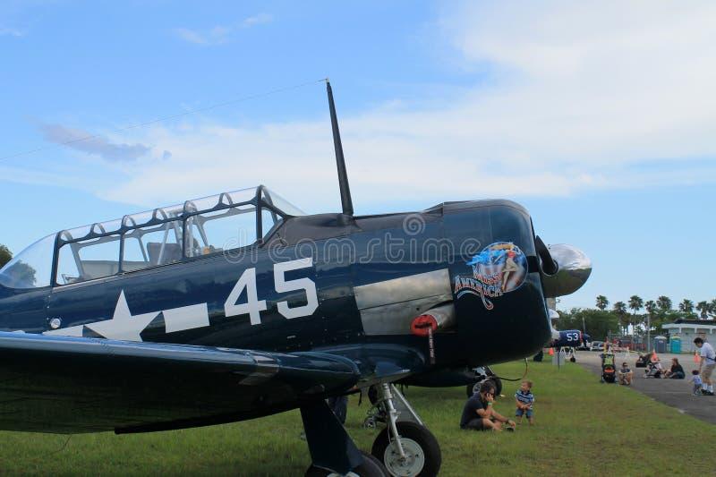 Stary myśliwski samolotu szturmowego zbliżenie zdjęcia stock