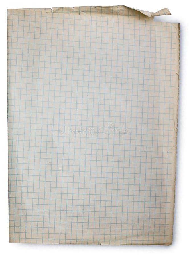 stary na plac papieru obraz stock
