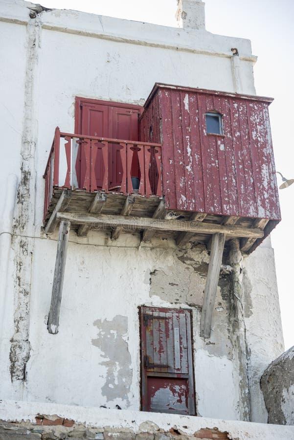 Stary nabrzeże domu Mykonos miasteczko Grecja zdjęcie stock