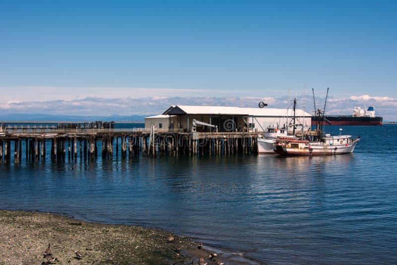 Stary nabrzeże w Portowym Angeles, Waszyngton, usa obraz stock