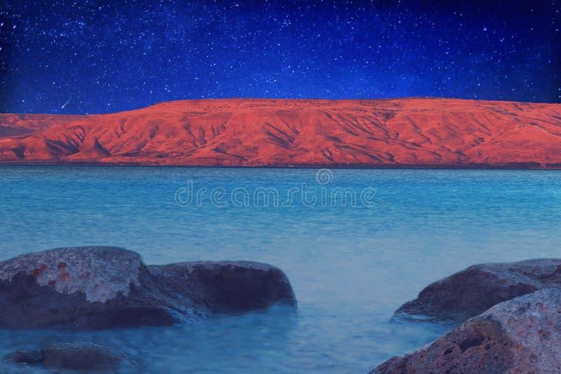 Stary natt av Galilee royaltyfri bild