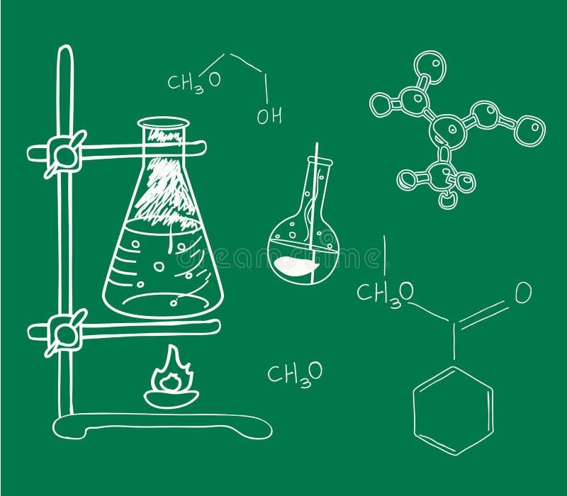 Stary nauki i chemii laboratorium royalty ilustracja