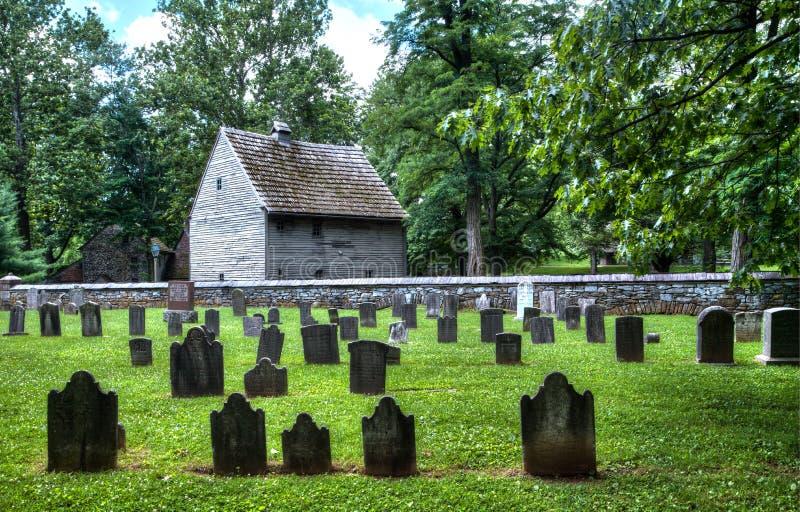 Stary Niemiecki cmentarz zdjęcia royalty free