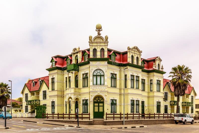 Stary Niemiecki kolonialny budynek, Swakopmund obraz royalty free