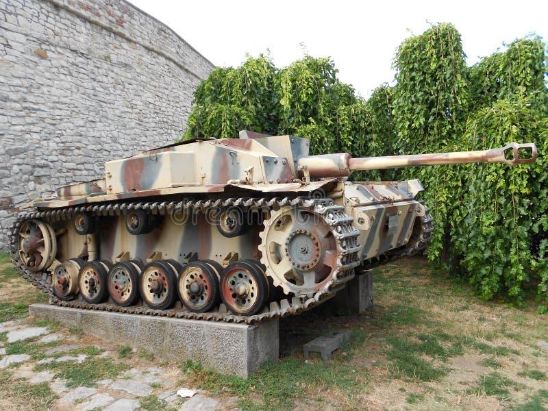 Stary Niemiecki zbiornik, StuG III ausf f/8 obrazy stock