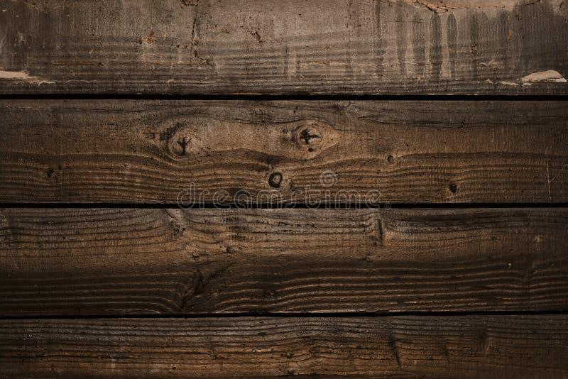 Stary nieociosany drewniany ścienny tło zdjęcia royalty free
