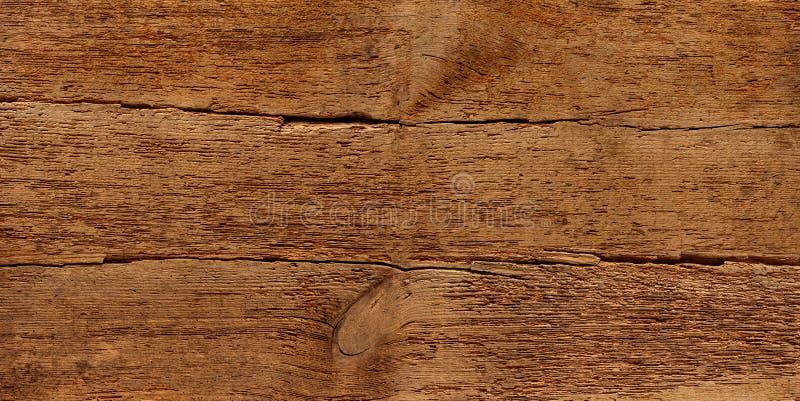 Stary nieociosany retro drewniany drewniany tekstury ciemnego brązu rocznik wietrzał naturalnego panoramy tło obraz royalty free
