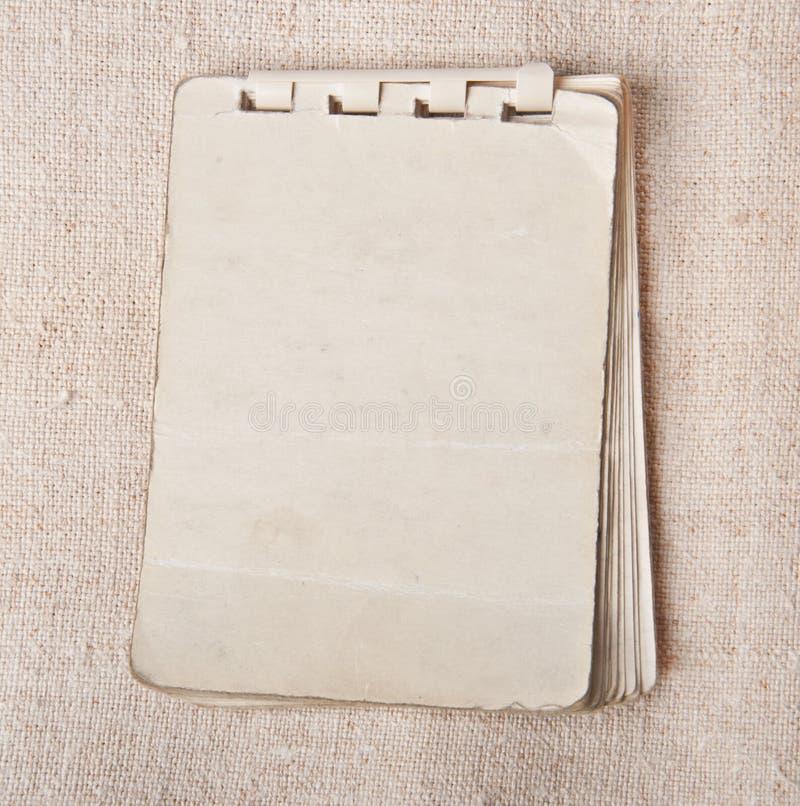 Stary notatnik zdjęcia stock