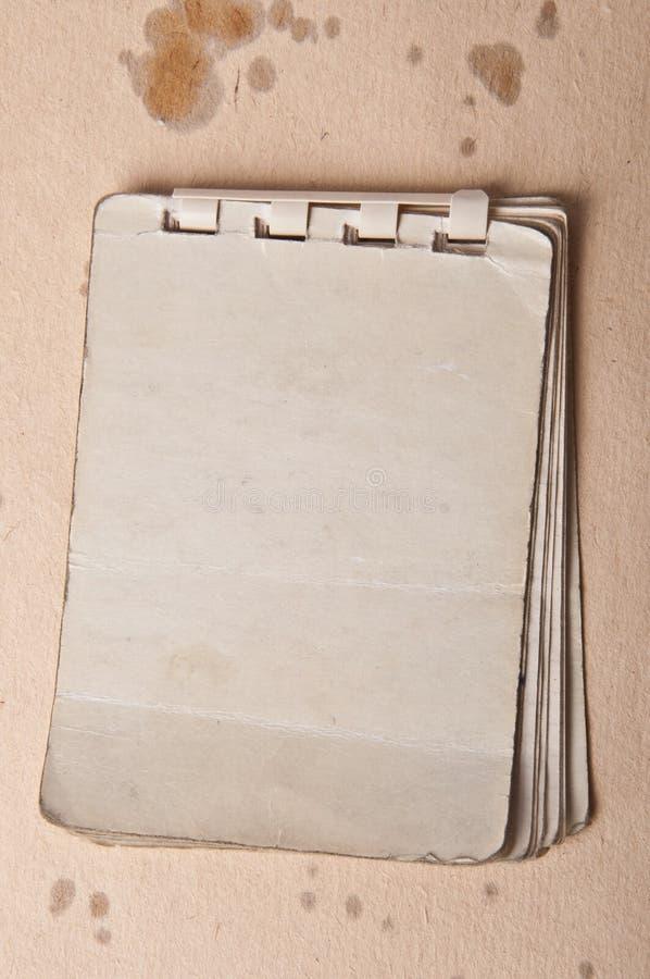 Stary notatnik zdjęcie stock