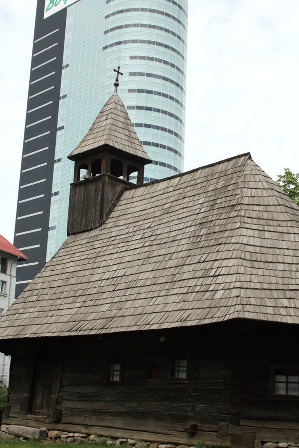 stary nowoczesnej architektury obraz stock