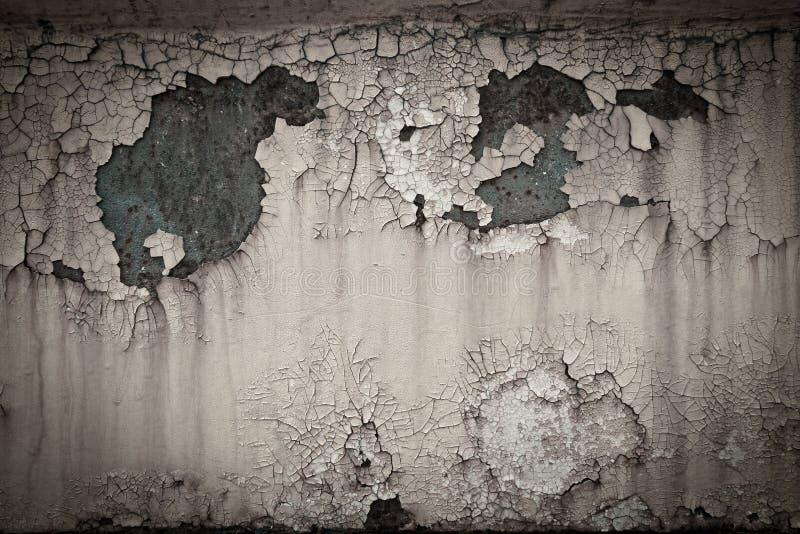 Stary ośniedziały farby pęknięcia metalu talerza tekstury tło fotografia stock
