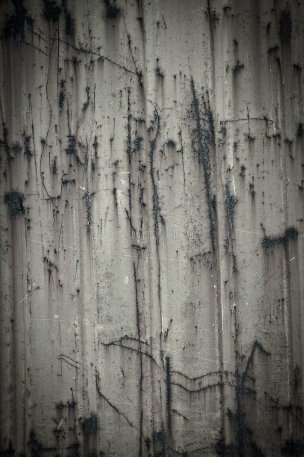 Stary ośniedziały farby pęknięcia metalu talerza tekstury tło zdjęcie stock
