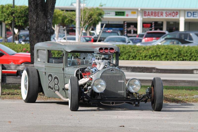 Stary Ośniedziały szczur Rod outdoors w Miami obrazy stock