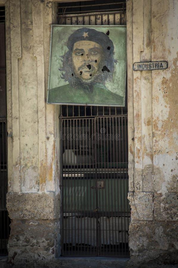 Stary obraz Che Guevara zdjęcie stock