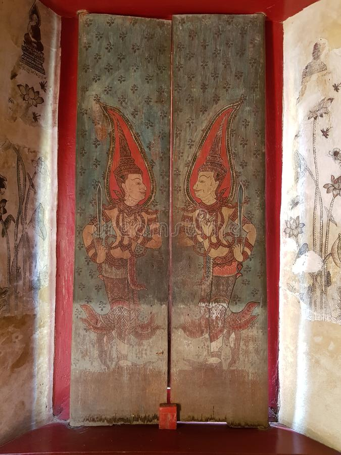 Stary obrazek przy Watem Mung w Tajlandia obrazy stock
